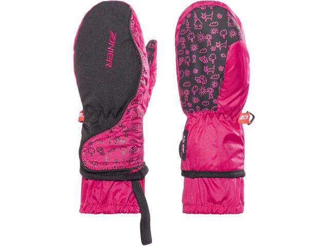 Zanier Gloves Shorty.ZX - Guantes Niños - rosa/negro